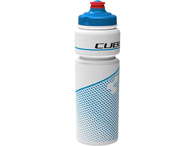 Cube Teamline Drinking Bottle 0.75 litres, white/blue